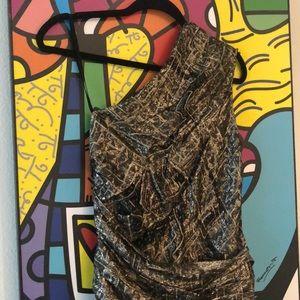 Isabel Marant Dresses - NWOT Isabel Marant one shoulder metallic dress